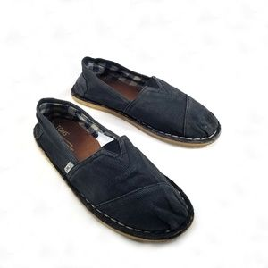 Toms Faded Black Slip On Loafers size 10
